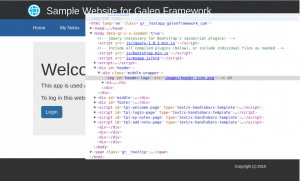 Sample Website for Galen Framework