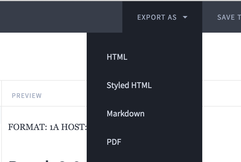 Export PDF or HTML from Apiary io - Blog - Spritle software